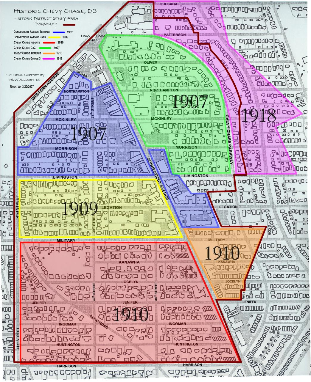 Historic-District-CheveyChase Dc Districts Map on
